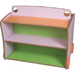 Шкаф за играчки 8275-2 нива-двулицев със заоблени ъгли