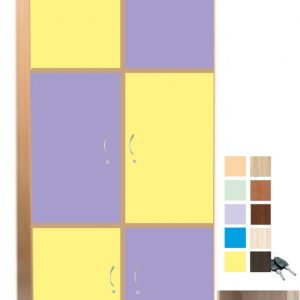 Шкаф за раници с 6 врати