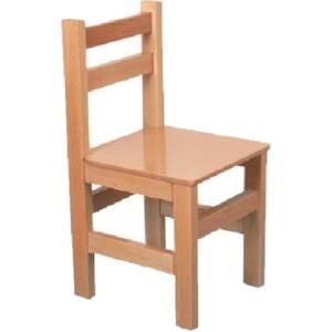 Дървено столче-бук 2035 със заоблени ъгли