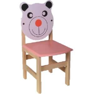 Дървено столче-мече 8440 със заоблени ъгли