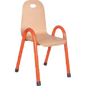 Дървено столче с метални крака 8445
