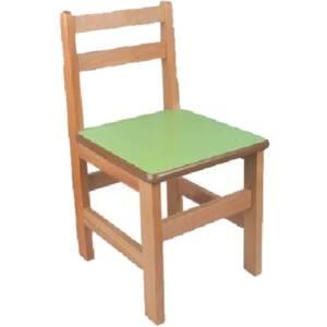 Дървено столче 8035 със заоблени ъгли